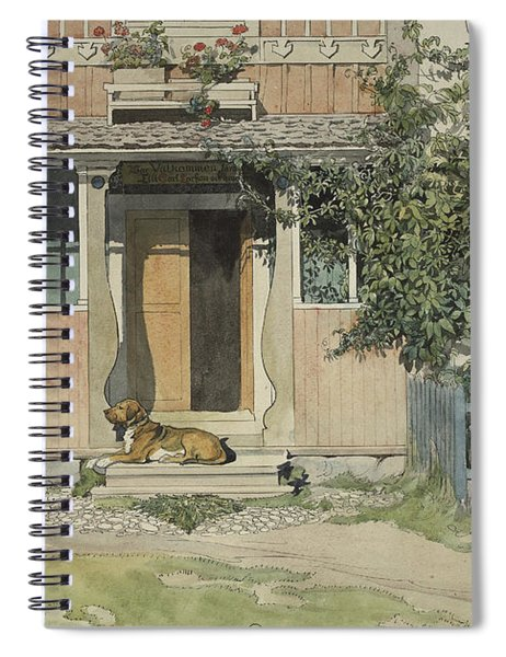 The Verandah, From A Home Series Spiral Notebook