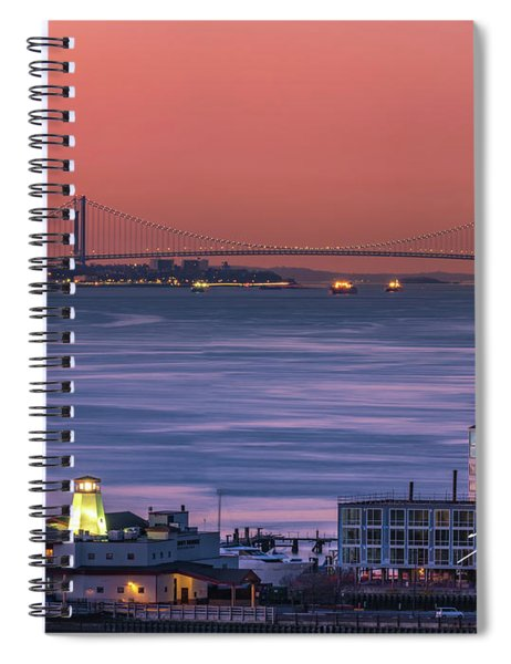 The Verrazano Bridge At Sunrise Spiral Notebook