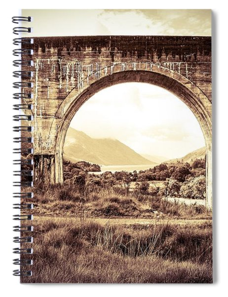 The Viaduct And The Loch Spiral Notebook