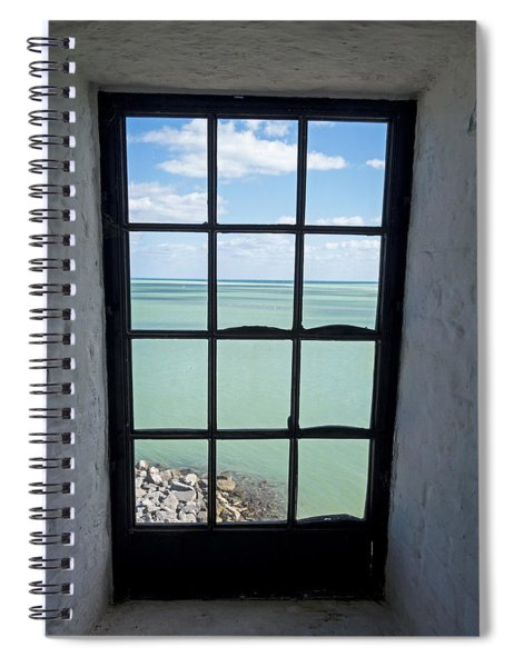 The View From The Lighthouse Window Bill Baggs Lighthouse Key Biscayne Florida Spiral Notebook