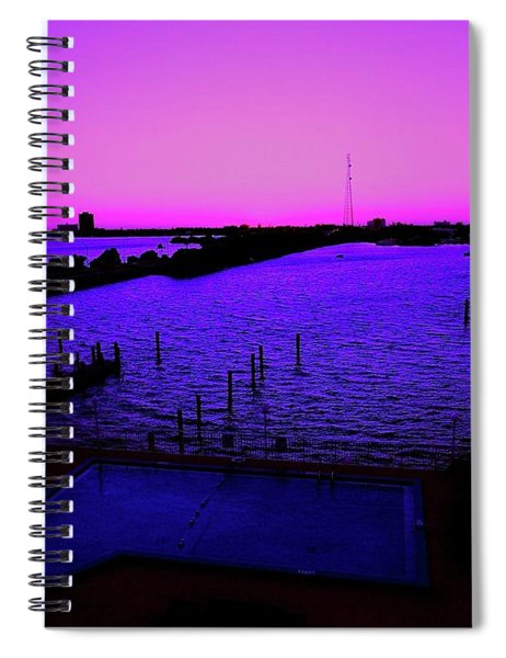 The Purple View  Spiral Notebook