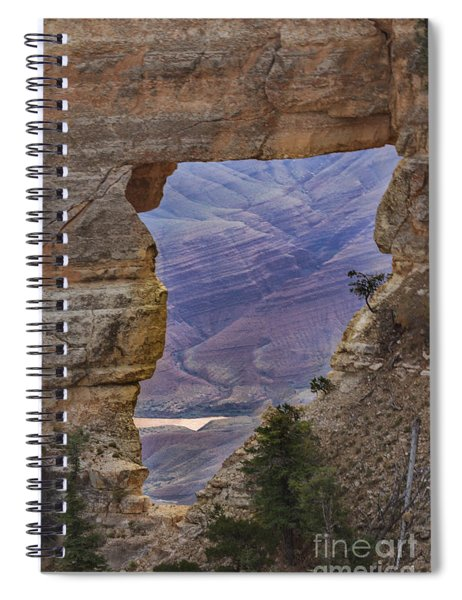 The  View Through The Angels'  Window Spiral Notebook