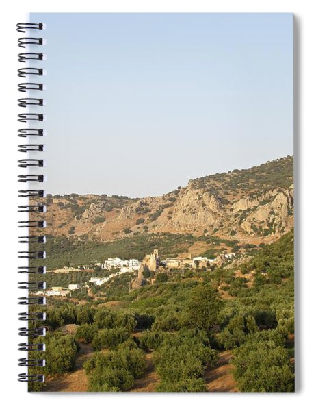 The Village Of Zuheros And Surroundings Spiral Notebook