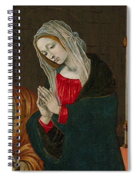 The Virgin Of The Nativity , Workshop Of Filippino Lippi Spiral Notebook