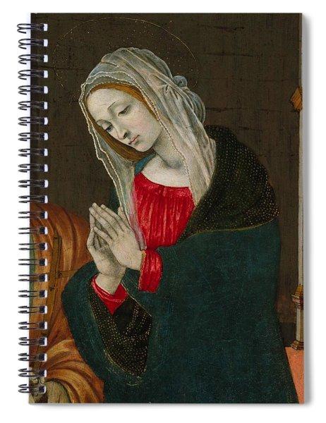The Virgin Of The Nativity , Workshop Of Filippino Lippi Spiral Notebook