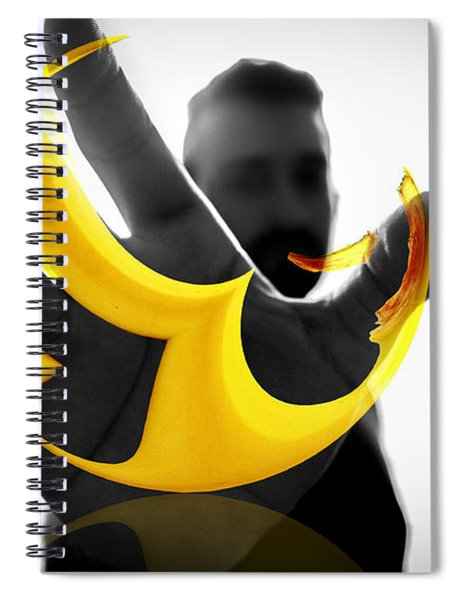 Spiral Notebook featuring the digital art The Virtual Reality Banana by ISAW Company