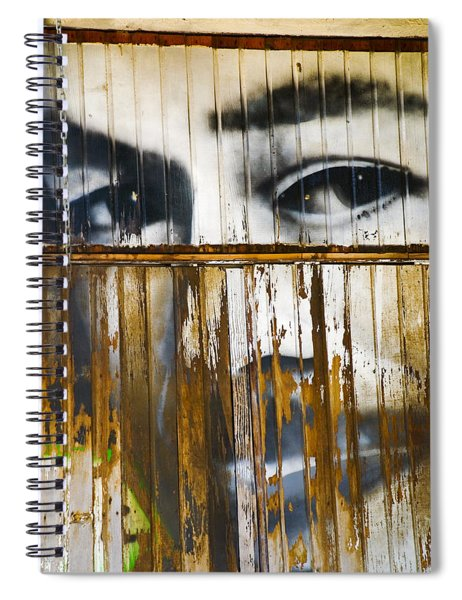 Spiral Notebook featuring the photograph The Walls Have Eyes by Skip Hunt