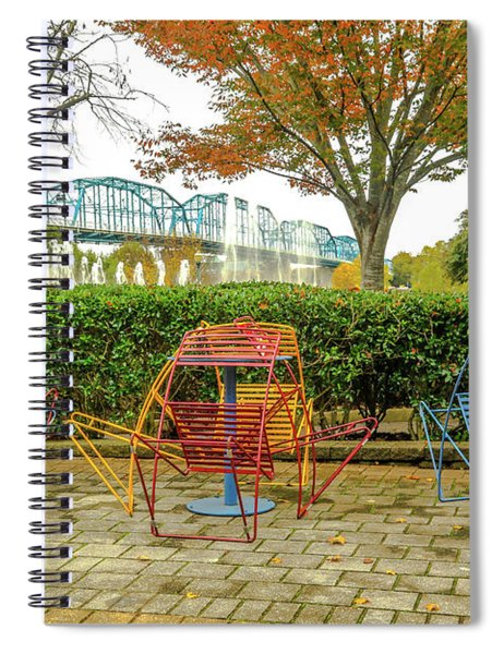 The Walnut St Bridge From The Park # 2 Spiral Notebook