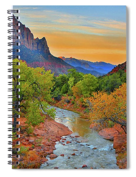 The Watchman And The Virgin River Spiral Notebook