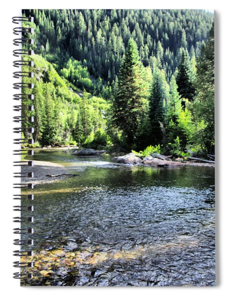 The Way A River Turns Spiral Notebook