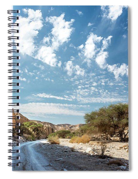 Spiral Notebook featuring the photograph The Way To The Light by Arik Baltinester