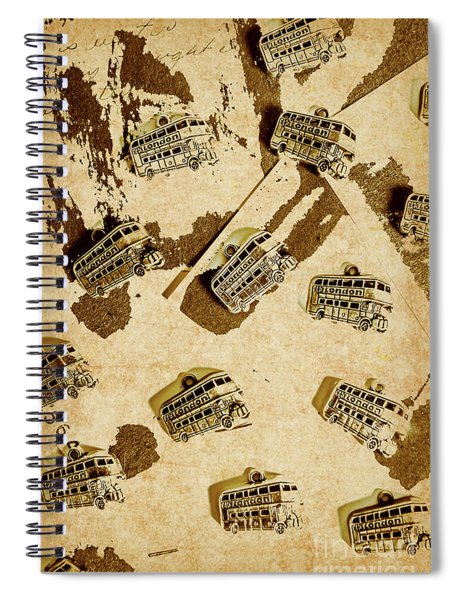The Weathered Downtown Spiral Notebook