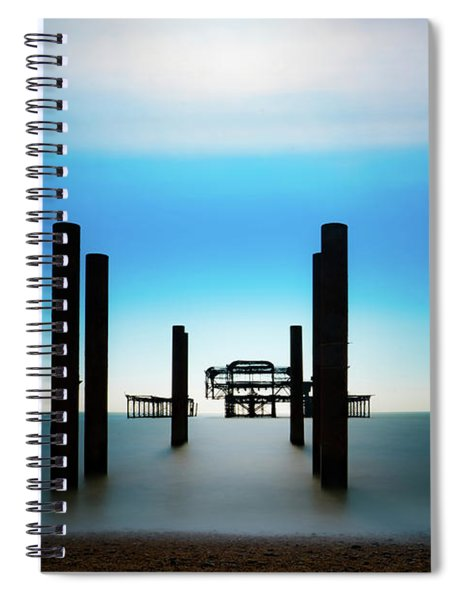 The West Pier Ruins In Winter Light Spiral Notebook