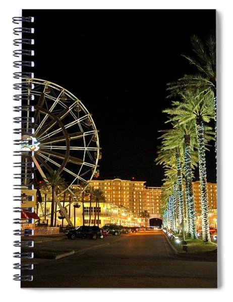 The Wharf At Night  Spiral Notebook