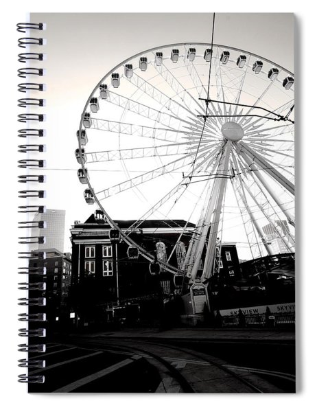The Wheel Black And White Spiral Notebook