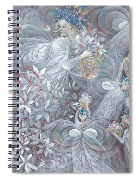The White Hibiscus Spiral Notebook