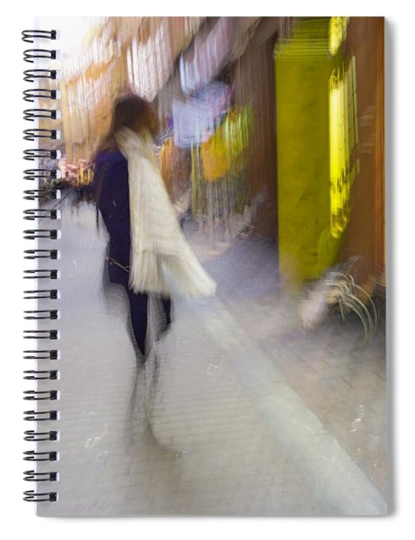 The White Scarf Spiral Notebook