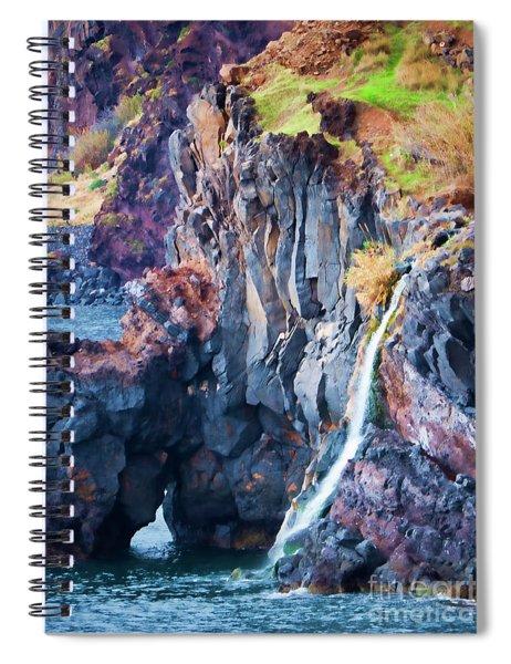 The Wild Atlantic Cliffs Of Camara De Lobos On The Islandof Madeira Spiral Notebook