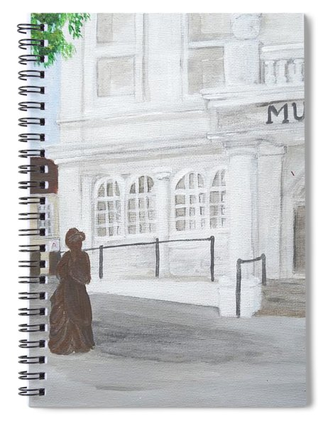 The Willis Museum Basingstoke With Jane Austen Statue Spiral Notebook