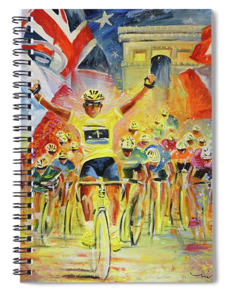 The Winner Of The Tour De France Spiral Notebook
