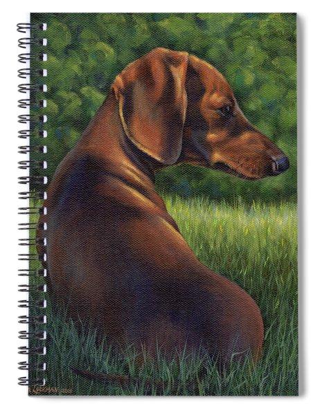 The Wise Wiener Dog Spiral Notebook