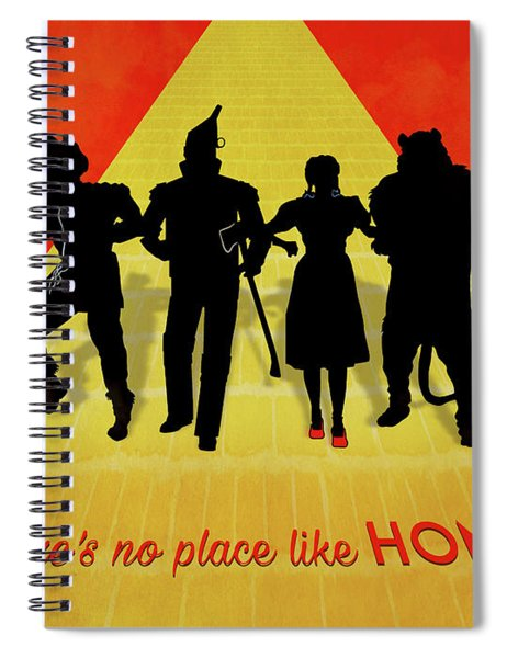 The Wizard Of Oz Minimalist Movie Quote Poster Art 2 Spiral Notebook