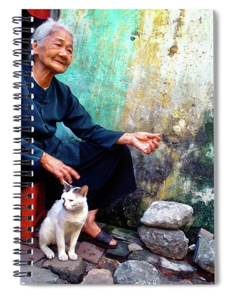 The Woman And The Cat Spiral Notebook