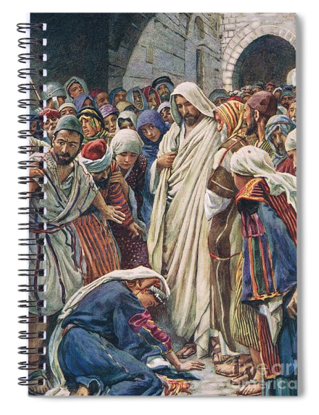 The Woman Who Touched The Hem Of His Garment Spiral Notebook