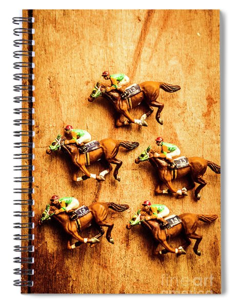 The Wooden Horse Race Spiral Notebook