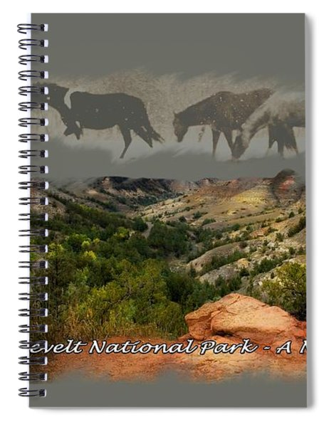 Theodore Roosevelt National Park Spiral Notebook