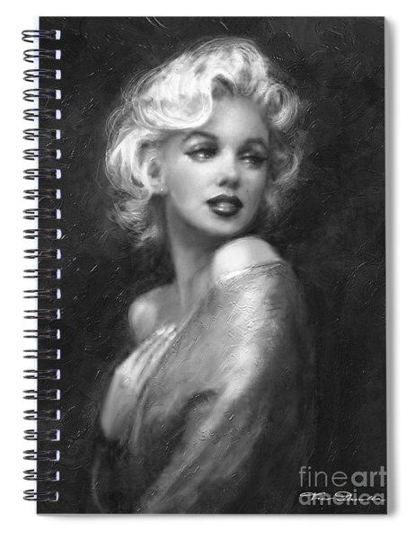Theo's Marilyn Ww Bw Spiral Notebook