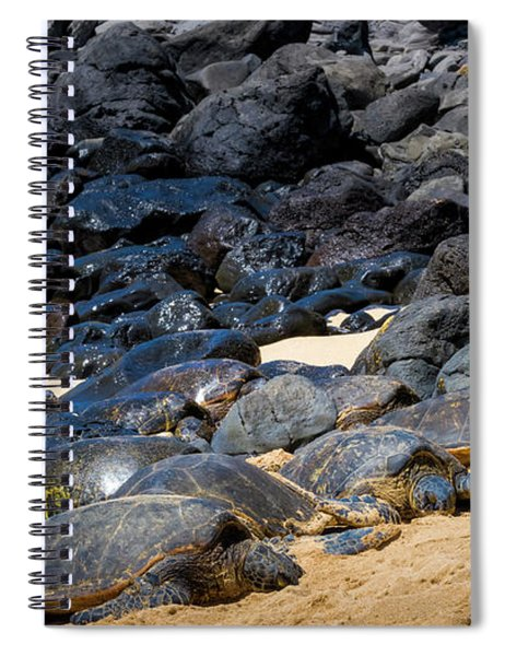 Spiral Notebook featuring the photograph There Has Got To Be More Room On This Beach  by Jim Thompson
