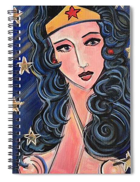 There's A Wonder Woman In Us All Spiral Notebook