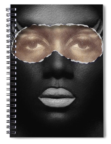 Spiral Notebook featuring the digital art Thin Skinned by ISAW Company