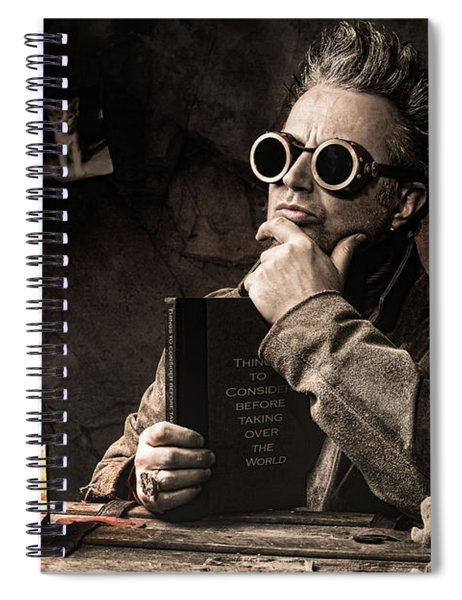 Things To Consider - Steampunk - World Domination Spiral Notebook
