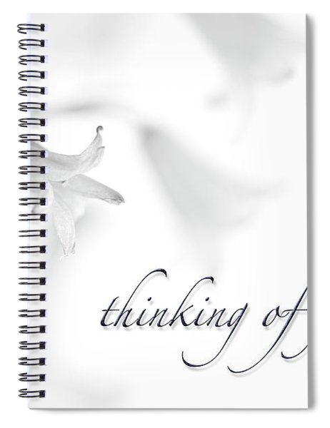 Thinking Of You Notecard Spiral Notebook