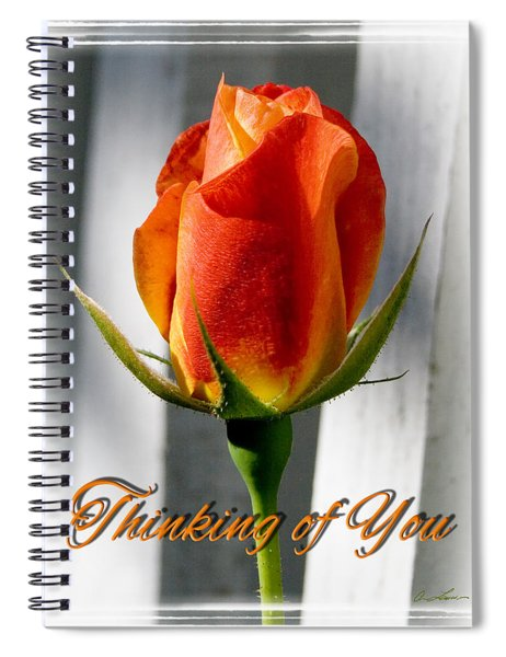 Thinking Of You, Rose Spiral Notebook