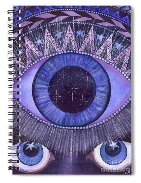 Third Eye Chakra Spiral Notebook