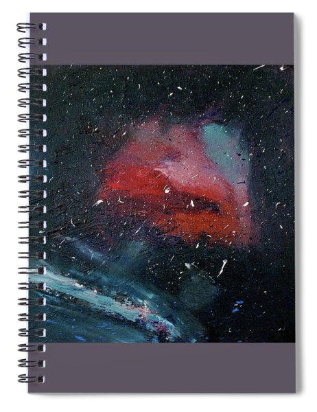 Spiral Notebook featuring the painting Third Eye by Michael Lucarelli