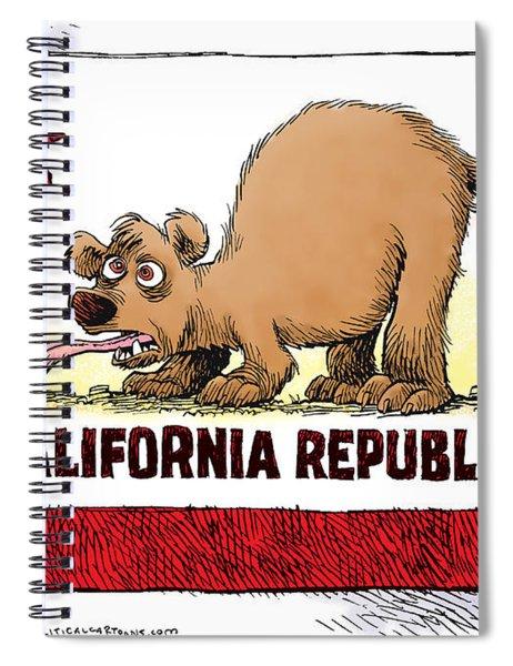 Thirsty California Flag Spiral Notebook