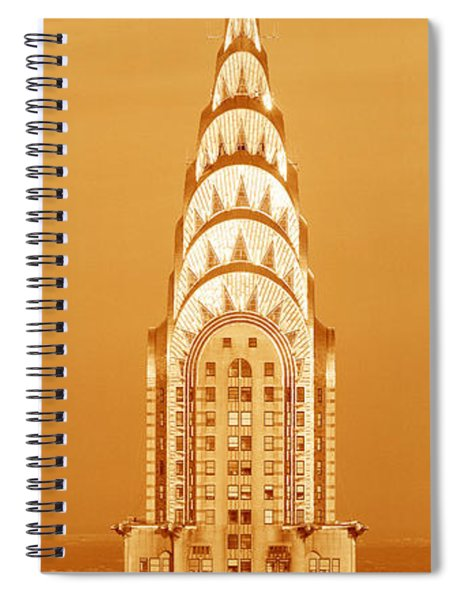 Chrysler Building At Sunset Spiral Notebook