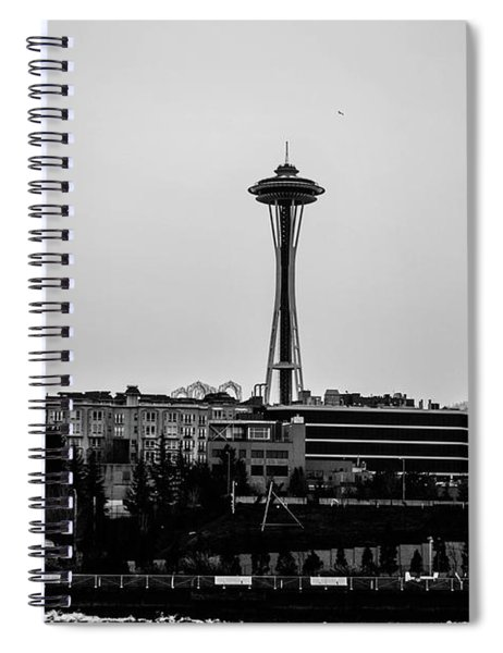This Is Seattle Black And White Spiral Notebook