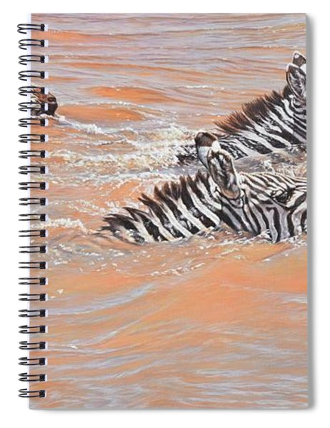 Spiral Notebook featuring the painting This Way Son by Alan M Hunt