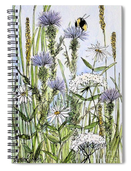 Thistles Daisies And Wildflowers Spiral Notebook