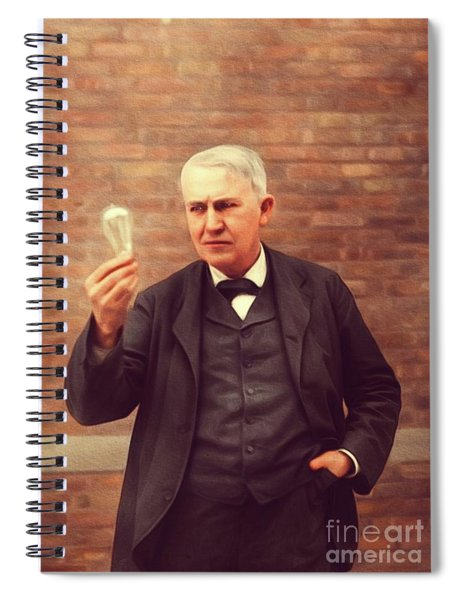 Thomas Edison, Inventor Spiral Notebook