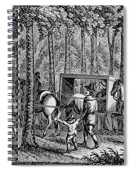 Thomas Hooker And His Congregation Traveling Through The Wilderness Spiral Notebook