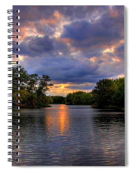 Thomas Lake Park In Eagan On A Glorious Summer Evening Spiral Notebook