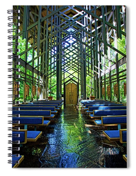 Thorncrown Chapel Serenity Spiral Notebook
