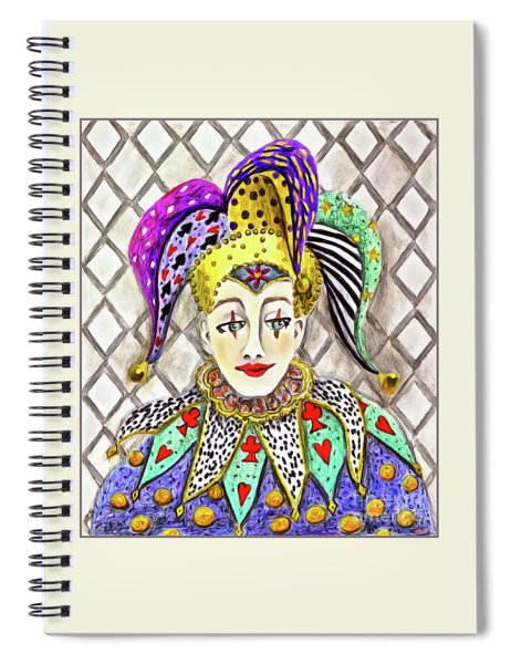 Thoughtful Jester Spiral Notebook