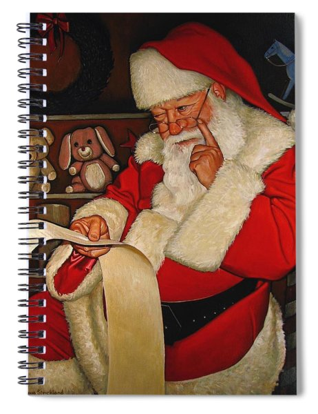 Thoughtful Santa Spiral Notebook